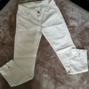 Zara Woman Cream Slim Fit Pants Sz 4